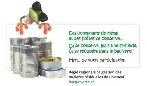 RRGMRP - Récupération des boîtes de conserves